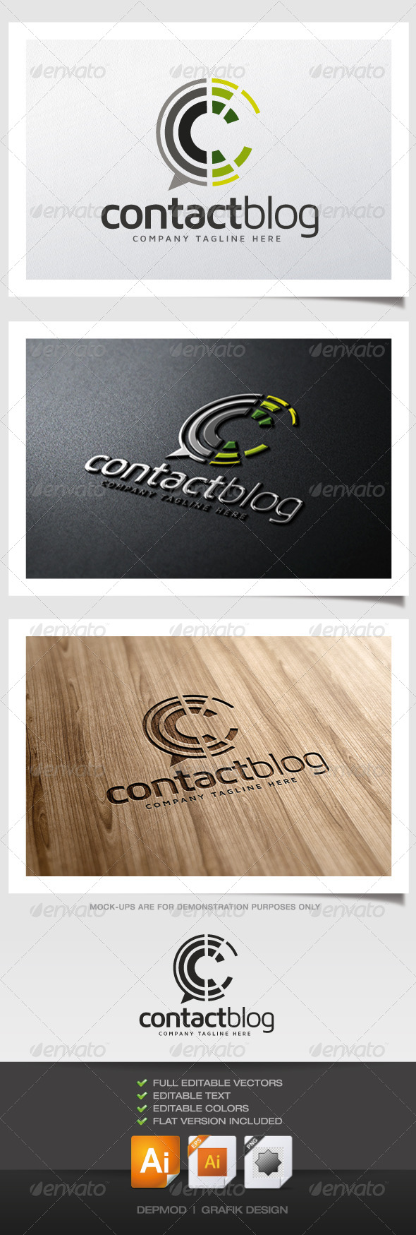 Contact Blog Logo - Abstract Logo Templates