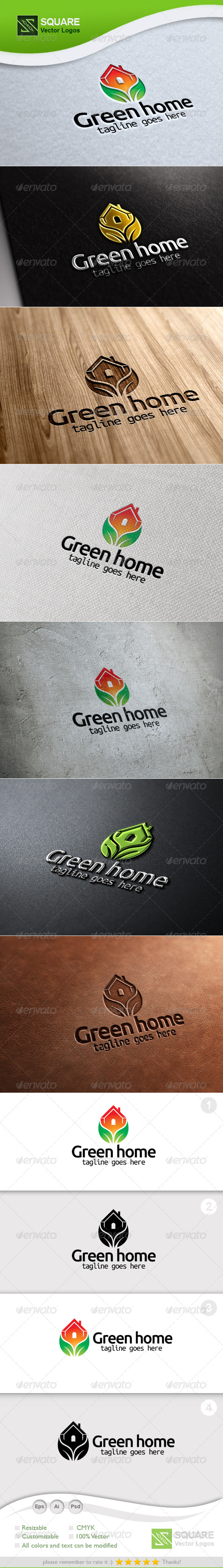 Eco, House Vector Logo Template - Nature Logo Templates