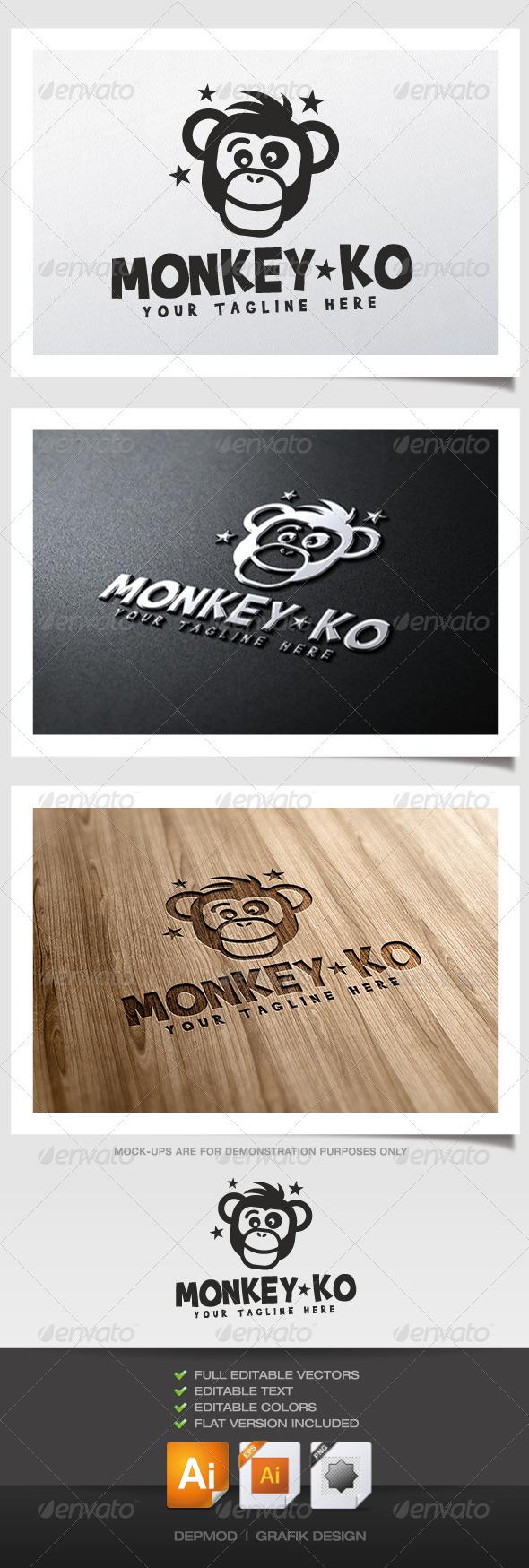 GraphicRiver Monkey KO Logo 5345686