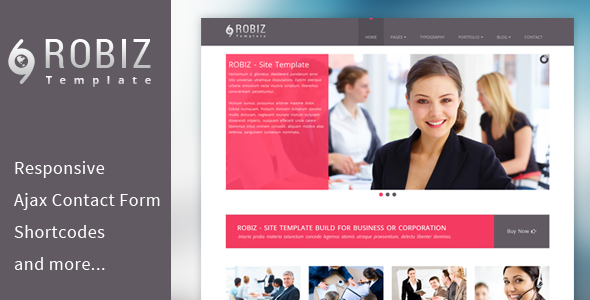 ROBIZ - Responsive Site Template - Business Corporate