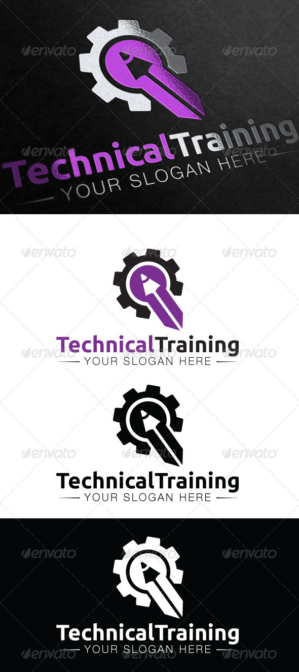 GraphicRiver Technical Training Logo 5346058