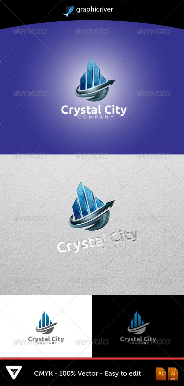 GraphicRiver Crystal City Logo 5346066