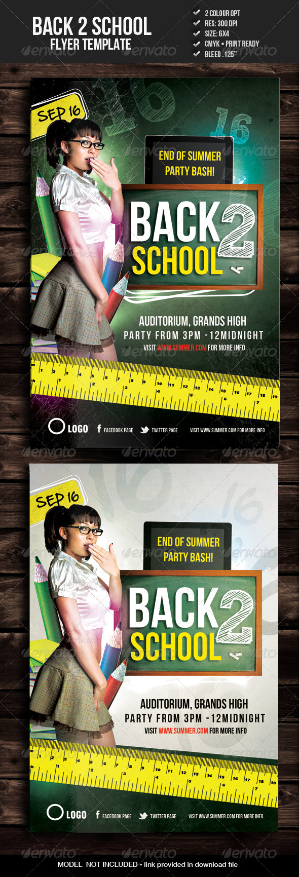 GraphicRiver Back to School Party Flyer 5346154