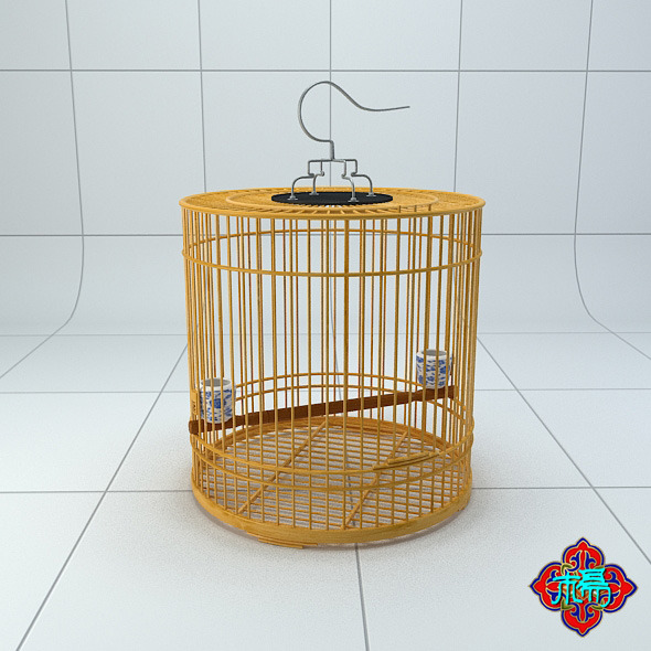 Chinese style bird cage 3 - 3DOcean Item for Sale
