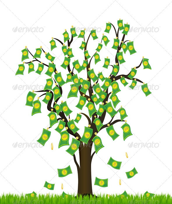 GraphicRiver Tree Overgrown with Money 5346356