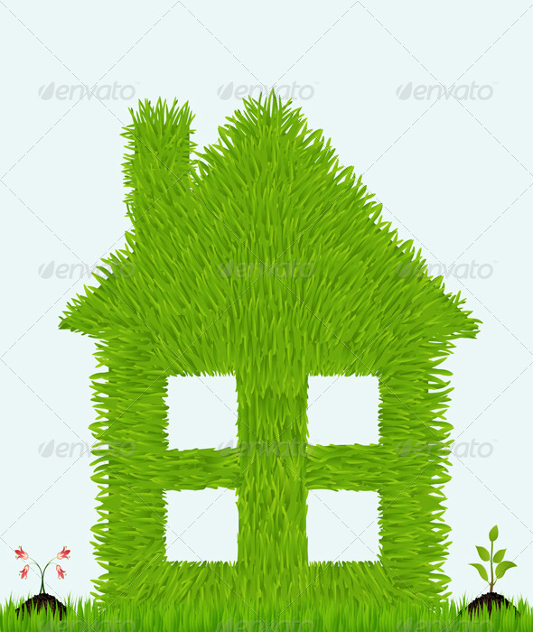 GraphicRiver Grassy House with Plants 5346359