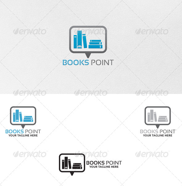 GraphicRiver Books Point Logo Template 5346747