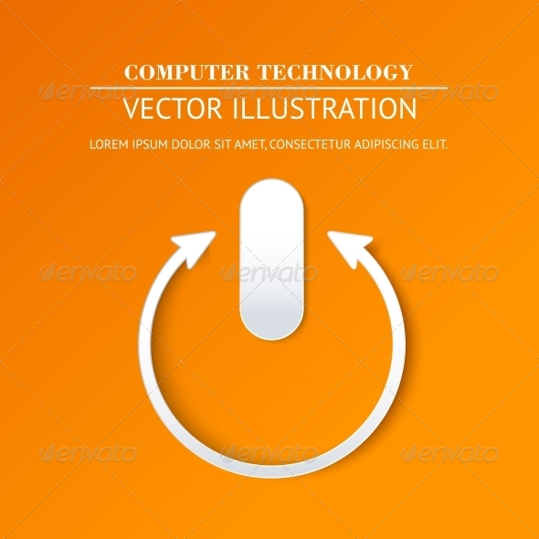 GraphicRiver Vector Login Page with Tune Power Button 5346909
