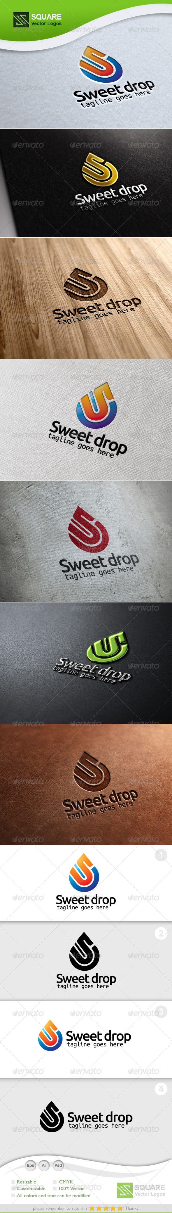 GraphicRiver S Drop Vector Logo Template 5346977