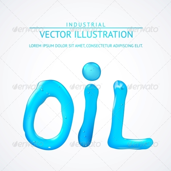 GraphicRiver Oil Liquid Text On a White Background 5346993