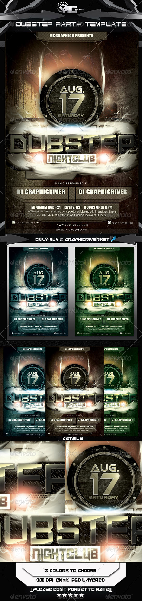 GraphicRiver Dubstep Party FlyerTemplate 5272732