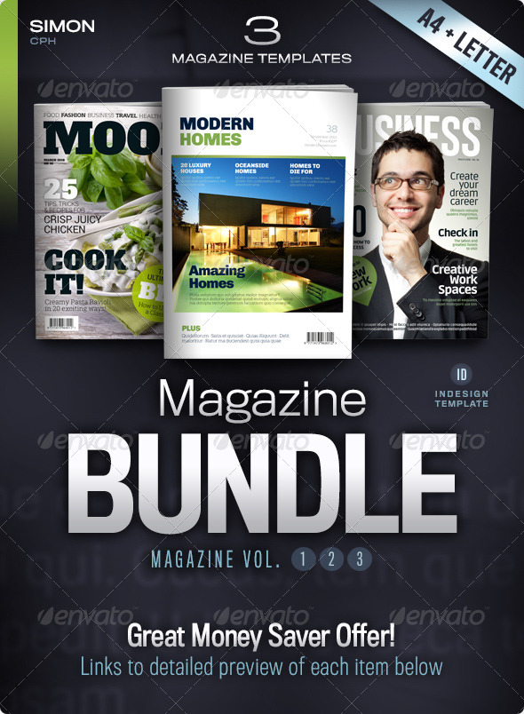 GraphicRiver Magazine Bundle Vol 1-2-3 5347370