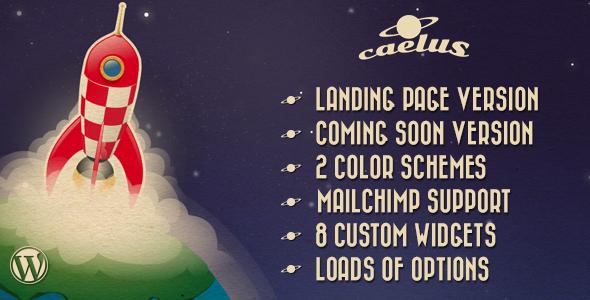 Caelus - Best Responsive ComingSoon WordPress Software Theme