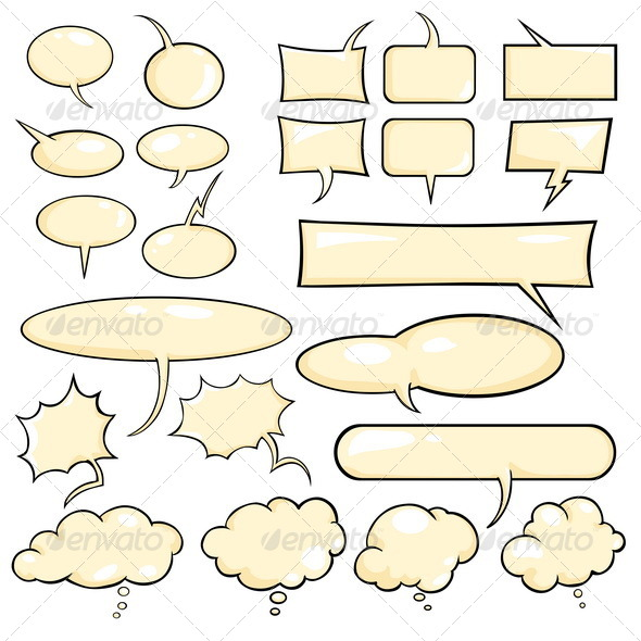 GraphicRiver Talk and Think Vector Color Bubbles 5347543