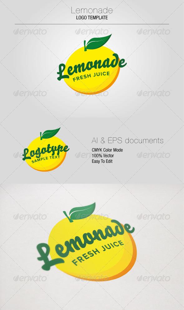 GraphicRiver Lemonade Logo Template 5347701