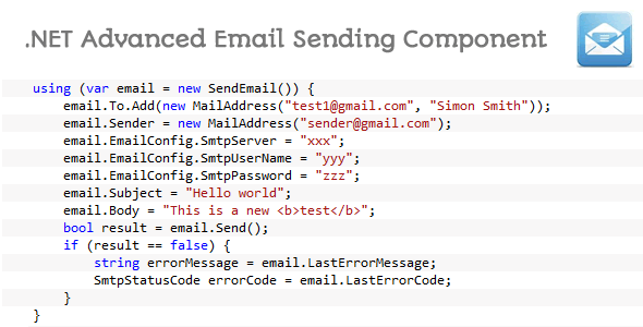 CodeCanyon .NET Advanced Email Sending Component 5326092