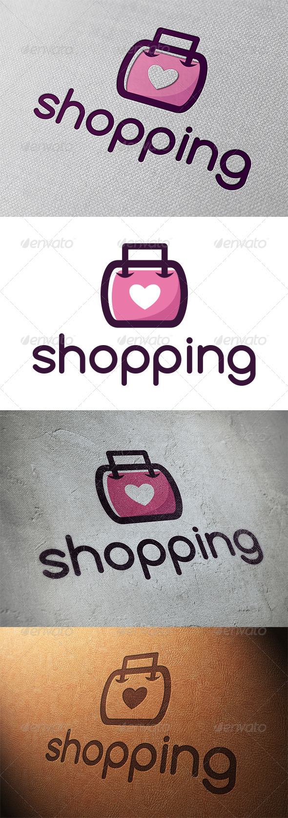 GraphicRiver Love Shopping Logo Template 5348126