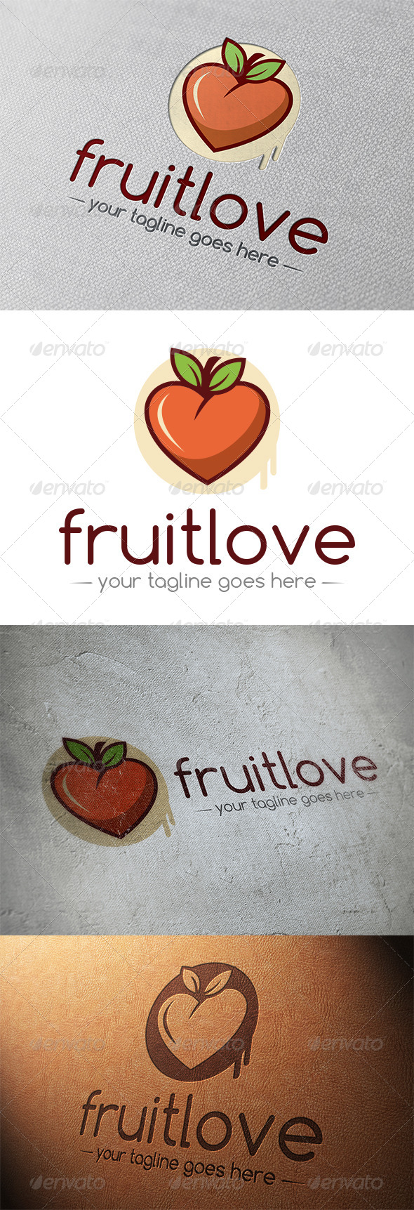 GraphicRiver Fruit Love Logo Template 5348295