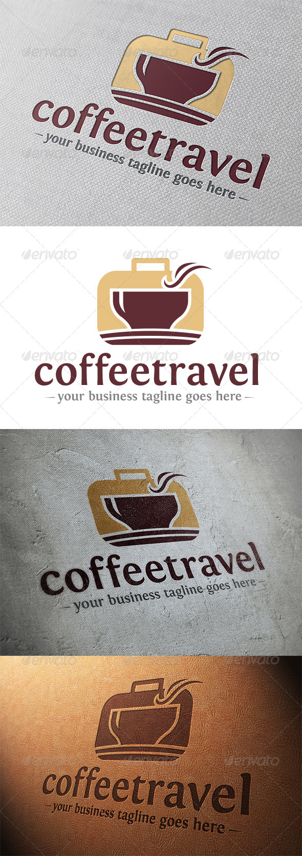 GraphicRiver Coffee Travel Logo 5348344