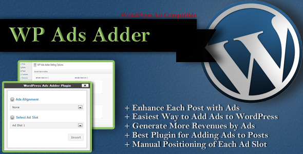 CodeCanyon WordPress Ads Adder To Maximize Ads Revenues 5315538