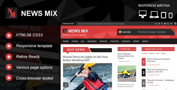 ThemeForest News Mix Responsive HTML 5 Website Template 5348422