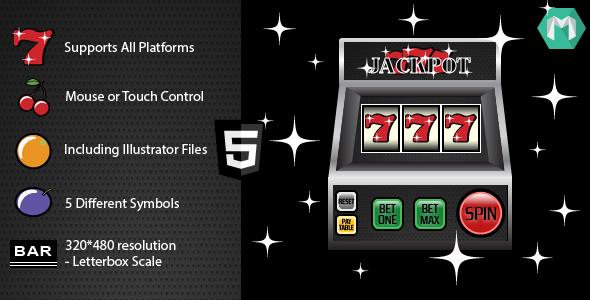 CodeCanyon HTML5 Slot Machine Jackpot 777 5348533