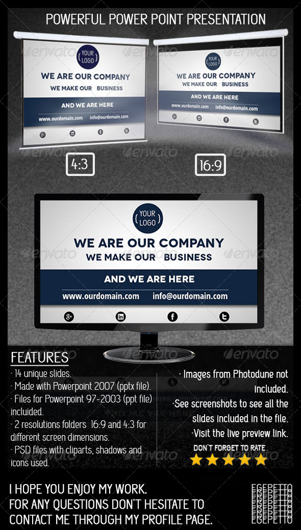 GraphicRiver Powerful Powerpoint Presentation for Business 5325941