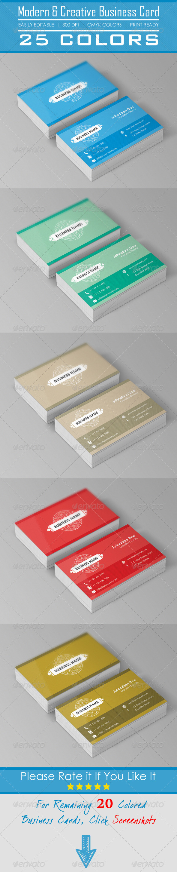 GraphicRiver Corporate & Creative Business Cards 5290667
