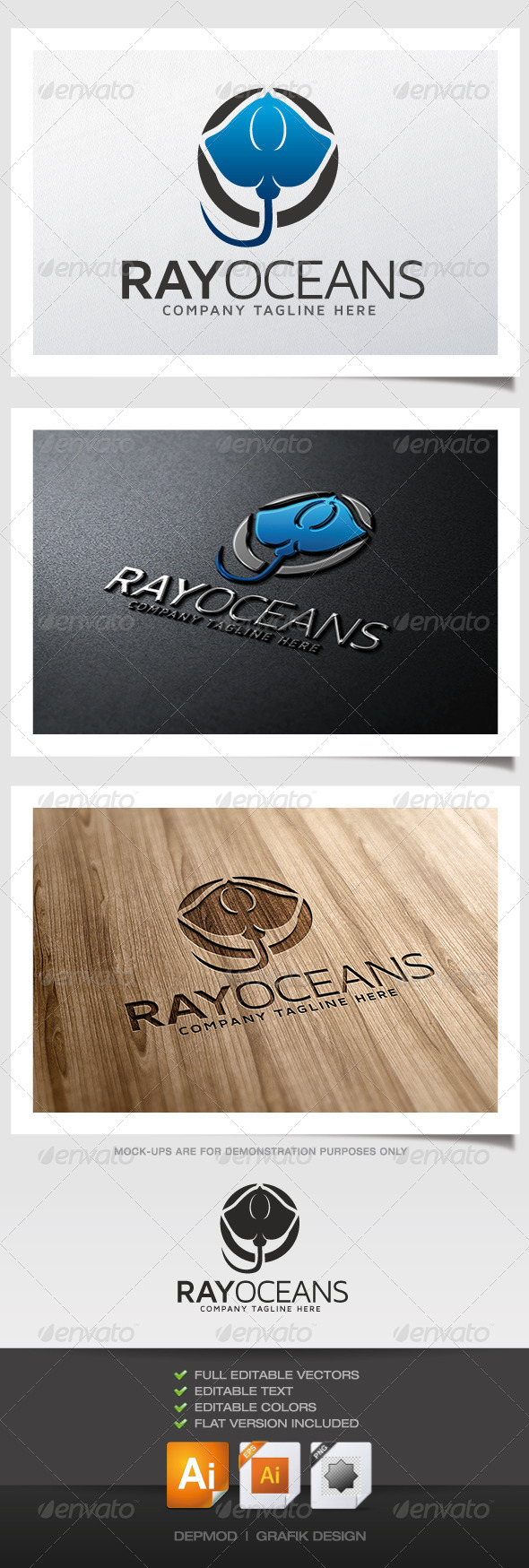 GraphicRiver Ray Oceans Logo 5349261
