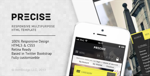 Precise — Multipurpose Responsive Template - Retail Site Templates