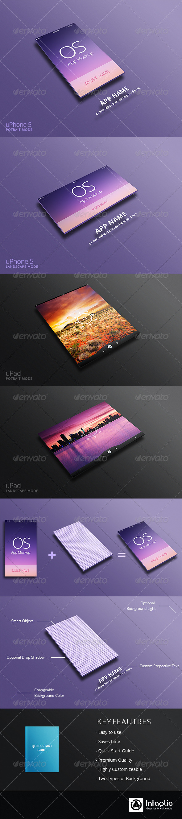 GraphicRiver App Mockup for uPhone & uPad 5311779