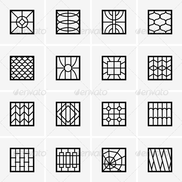 GraphicRiver Iron Window Grills 5349295