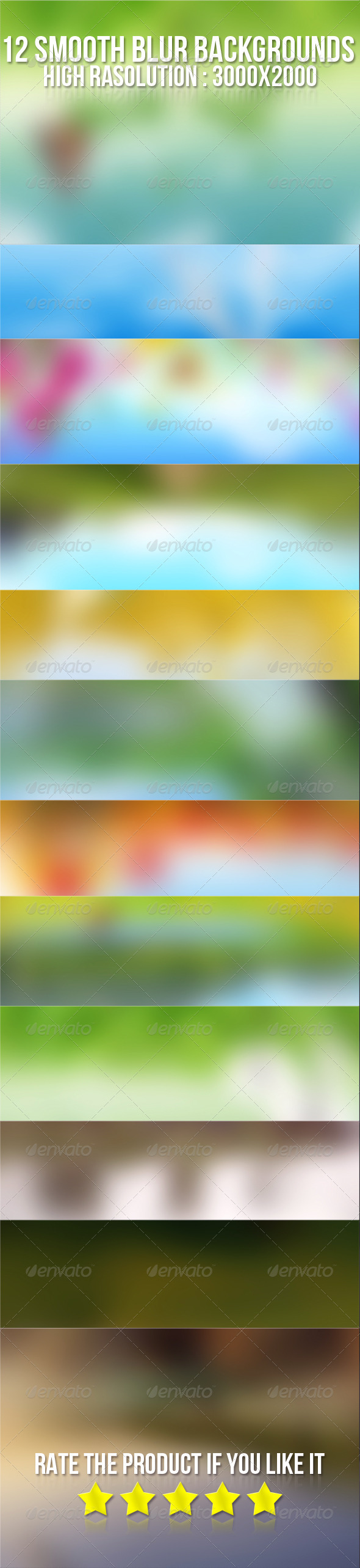 GraphicRiver 12 Smooth Blur Backgrounds 5295747