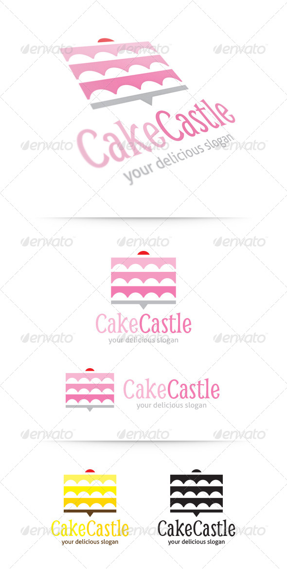 GraphicRiver Cake Castle Logo 5349456
