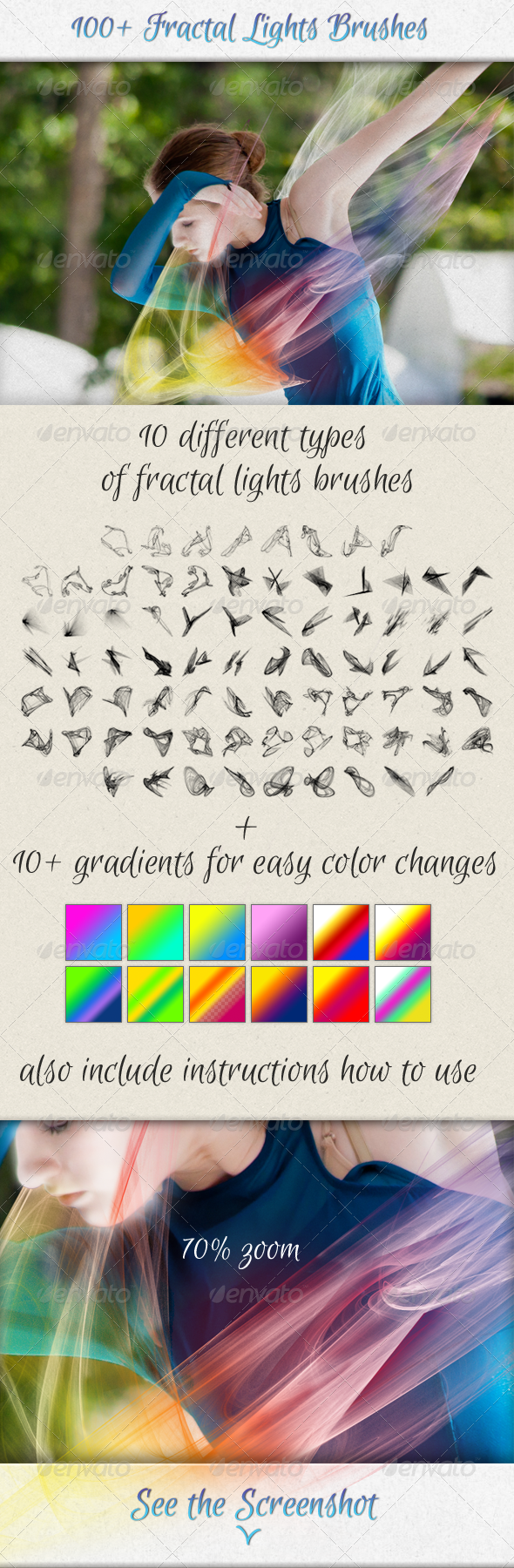 GraphicRiver 100& Fractal Lights Brushes for Visual Effects 5349463