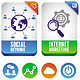 Vector internet marketing labels - GraphicRiver Item for Sale