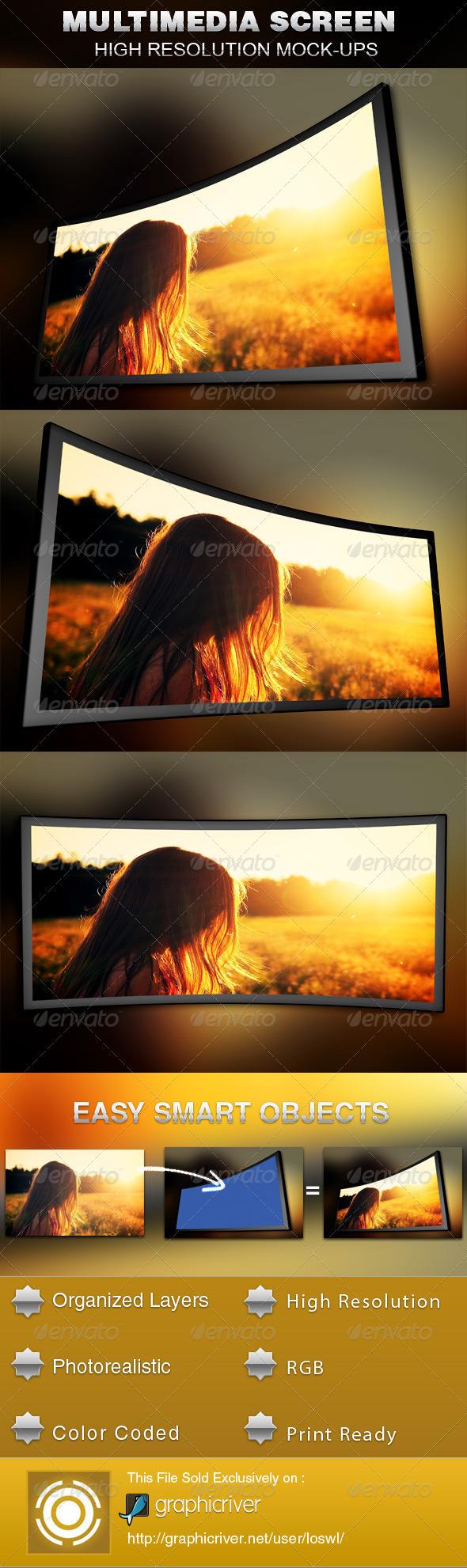GraphicRiver Multimedia Screen Mockup Template 5349618