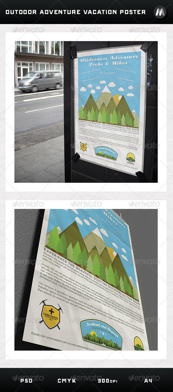 GraphicRiver Outdoor Adventure Vacation Poster 5295995