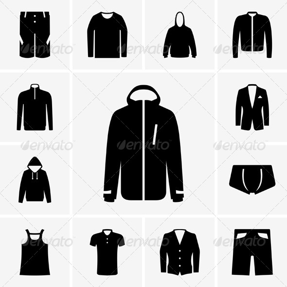 GraphicRiver Man Clothes Icons 5350570