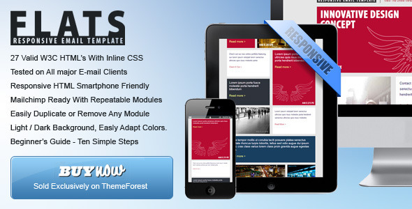 ThemeForest 27 General Flat Email Templates Dark Light 5350591