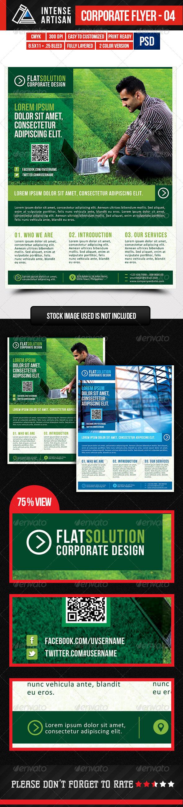 GraphicRiver IntenseArtisan Corporate Creative Flyer Vol.4 5350718