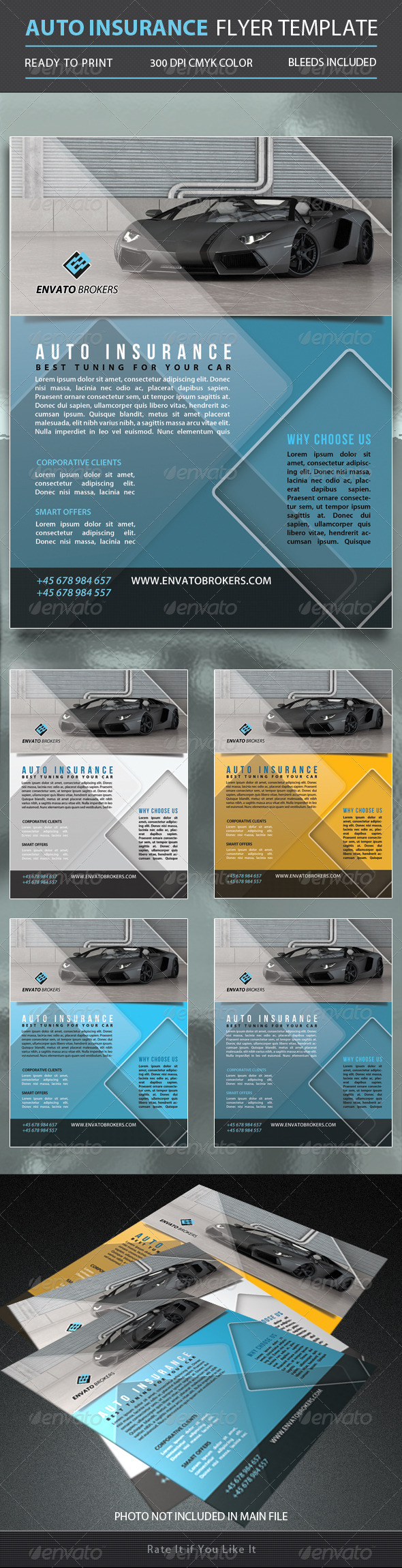 GraphicRiver Auto Insurance Flyer Template 5350762