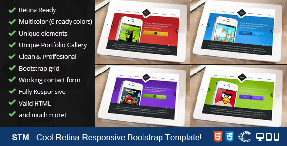 STM - One Page Responsive Portfolio Template - Portfolio Creative
