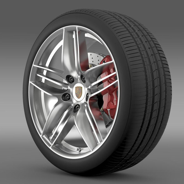 Porsche  911 Carerra 4S Cabriolet wheel - 3DOcean Item for Sale