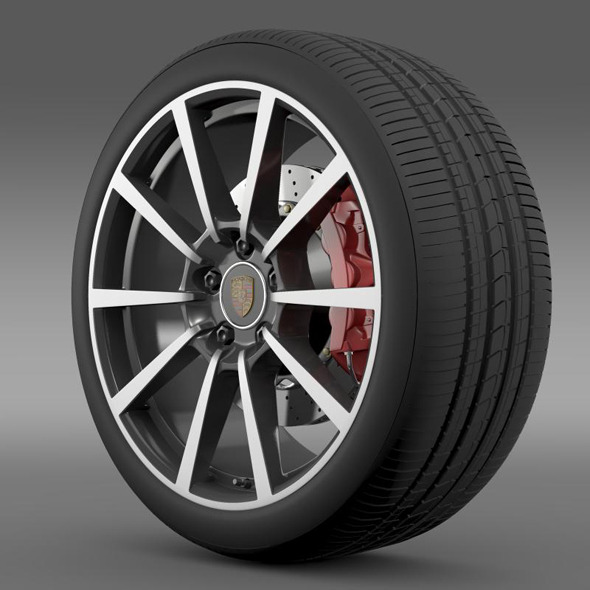 Porsche  911 Carerra 4S wheel - 3DOcean Item for Sale