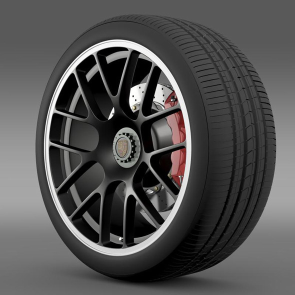 Porsche 911 Carerra GTS wheel - 3DOcean Item for Sale