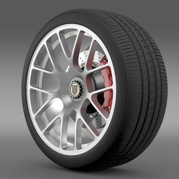 Porsche 911 Turbo wheel - 3DOcean Item for Sale