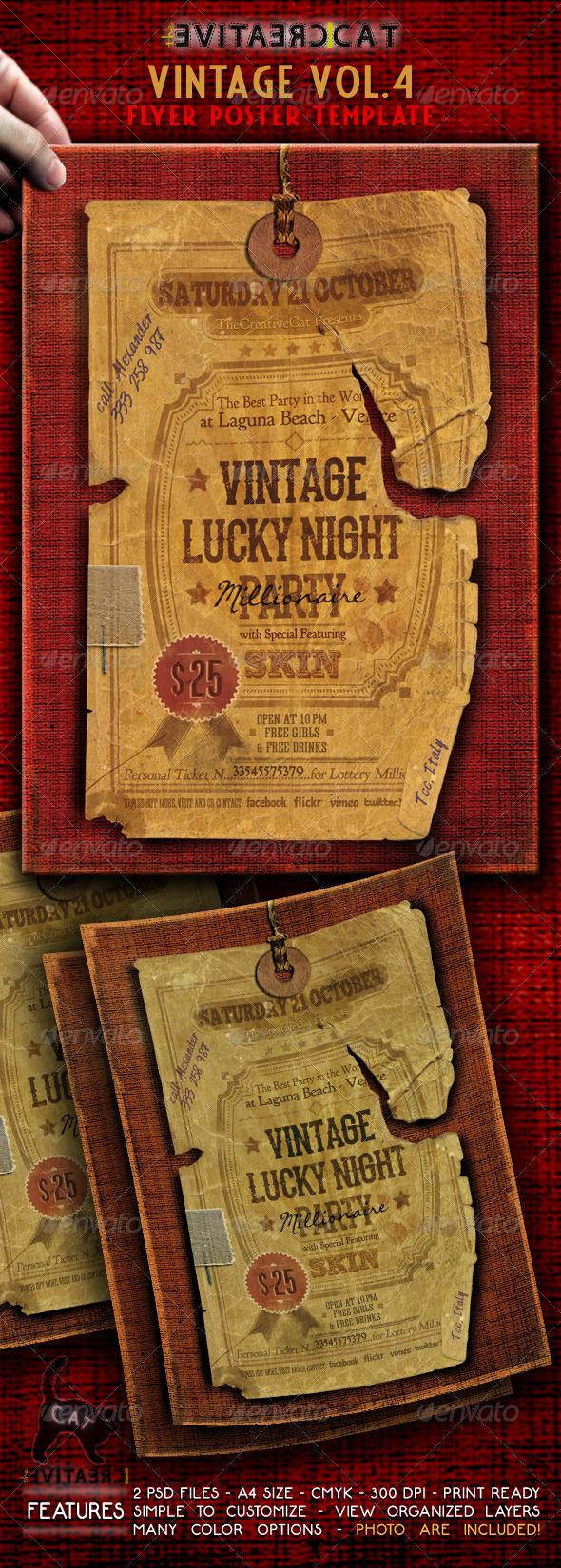 Vintage Flyer Poster Vol 4