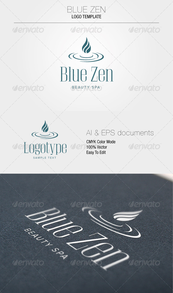GraphicRiver Blue Zen Logo Template 5351249