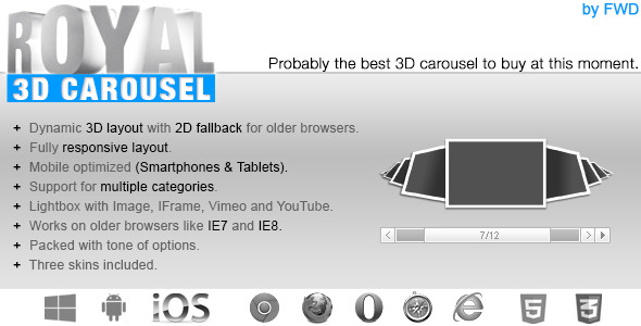 CodeCanyon Royal 3D Carousel 5351369